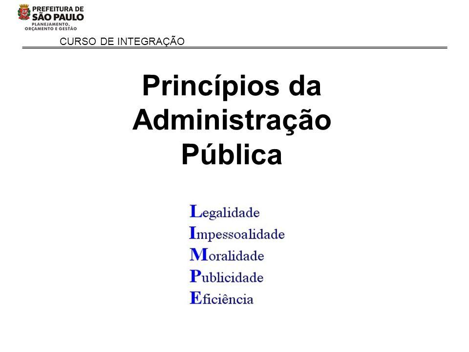 CURSO DE INTEGRAÇÃO Princípios da Administração Pública