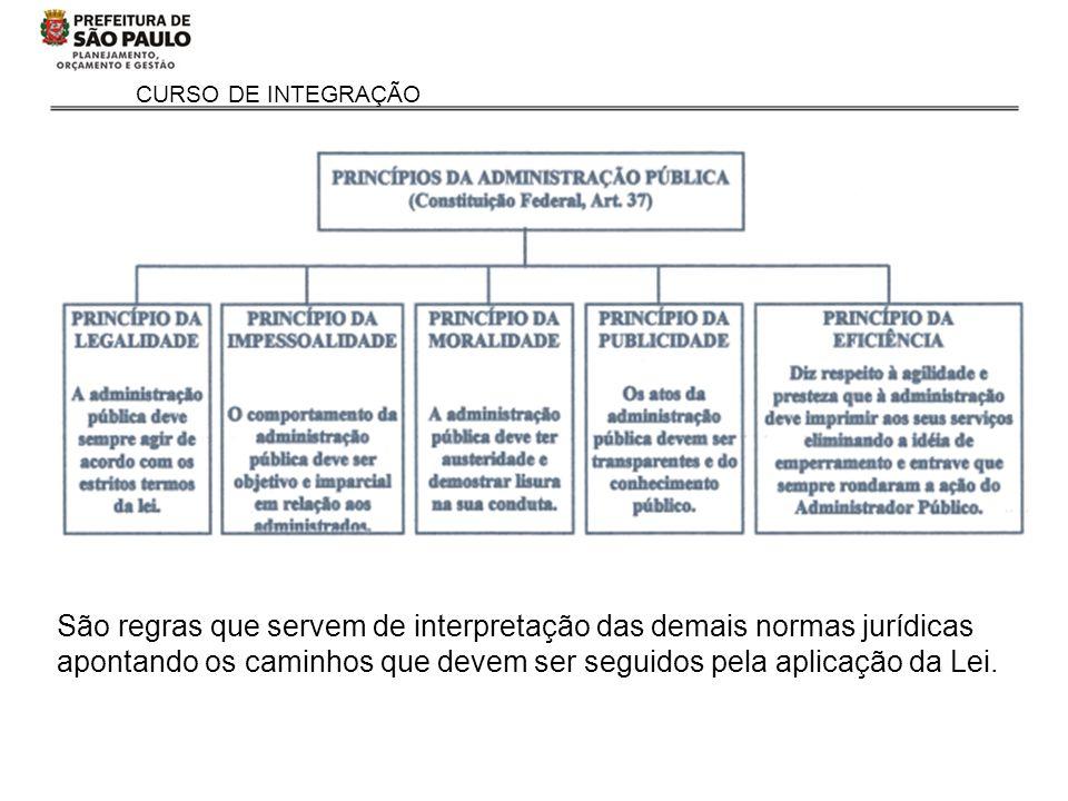 CURSO DE INTEGRAÇÃO São regras que servem de interpretação das demais normas jurídicas apontando os caminhos que devem ser seguidos pela aplicação da Lei.