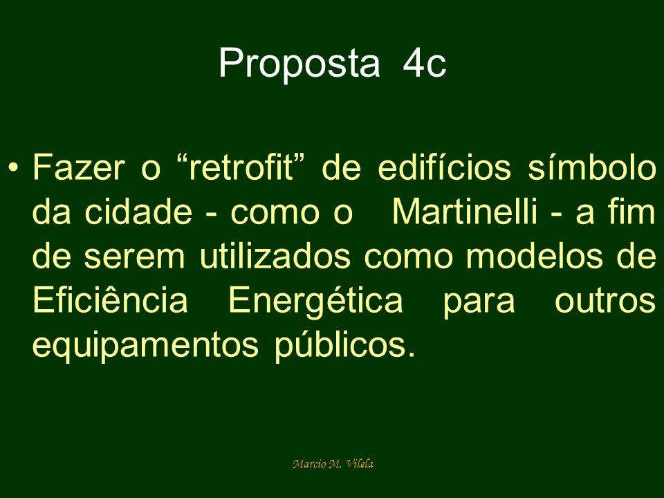 Marcio M. Vilela Proposta 4c Fazer o retrofit de edifícios símbolo da cidade - como o Martinelli - a fim de serem utilizados como modelos de Eficiênci