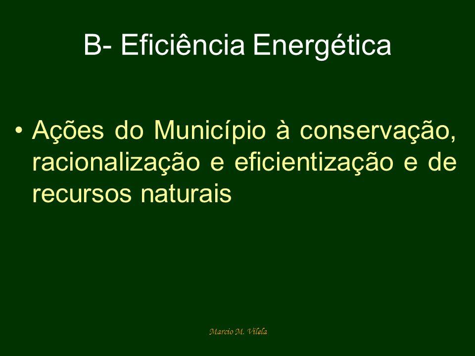 Marcio M. Vilela B- Eficiência Energética Ações do Município à conservação, racionalização e eficientização e de recursos naturais