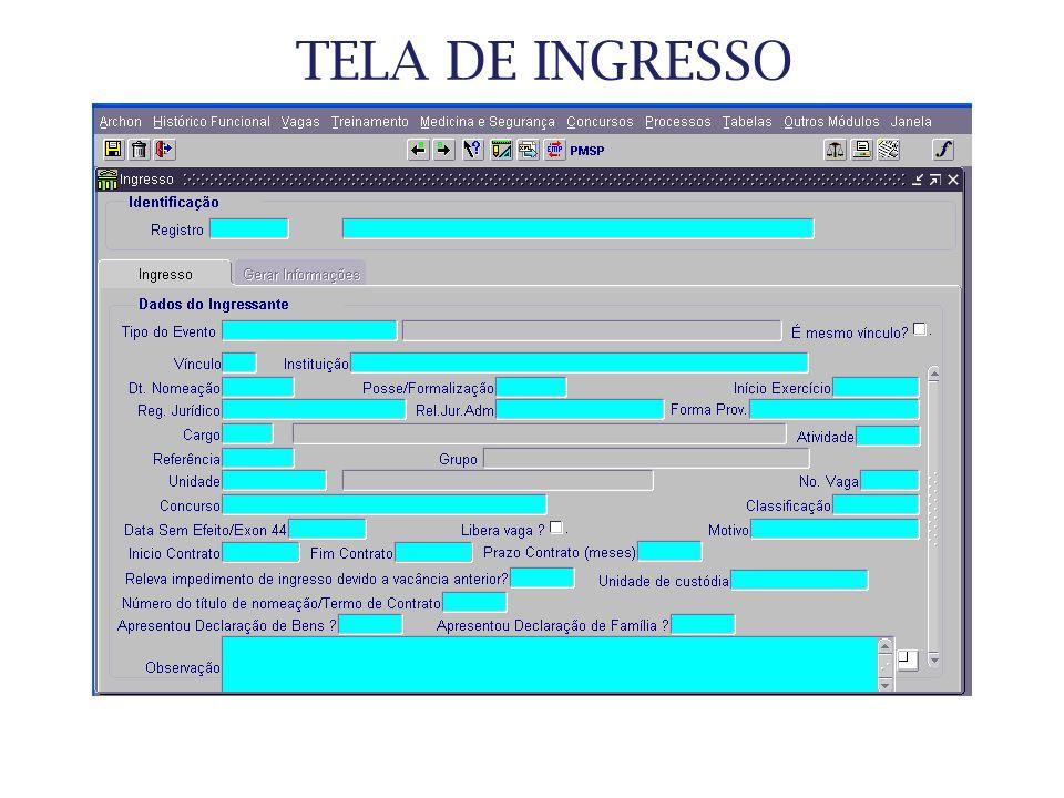 TELA DE INGRESSO