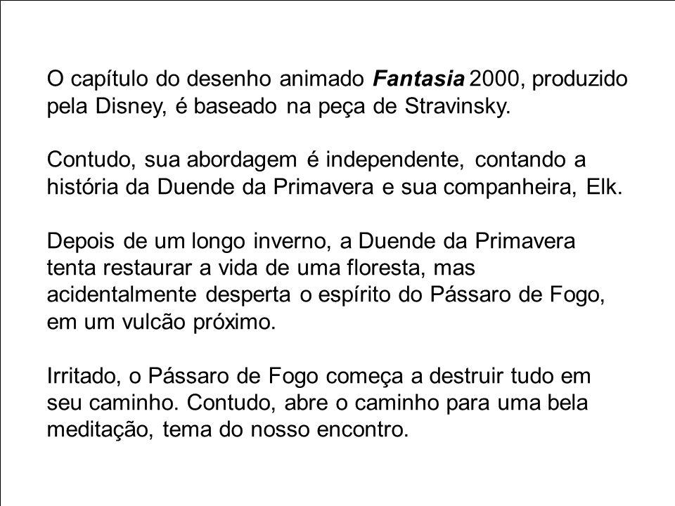 O capítulo do desenho animado Fantasia 2000, produzido pela Disney, é baseado na peça de Stravinsky. Contudo, sua abordagem é independente, contando a