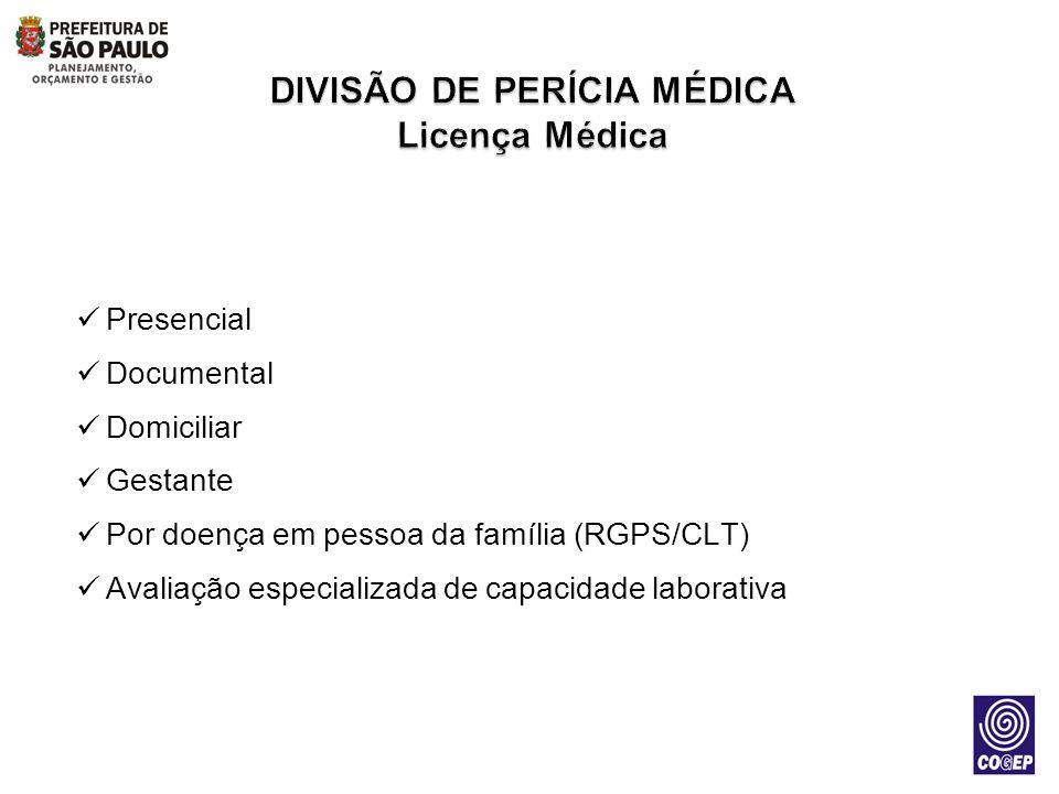 Presencial Documental Domiciliar Gestante Por doença em pessoa da família (RGPS/CLT) Avaliação especializada de capacidade laborativa