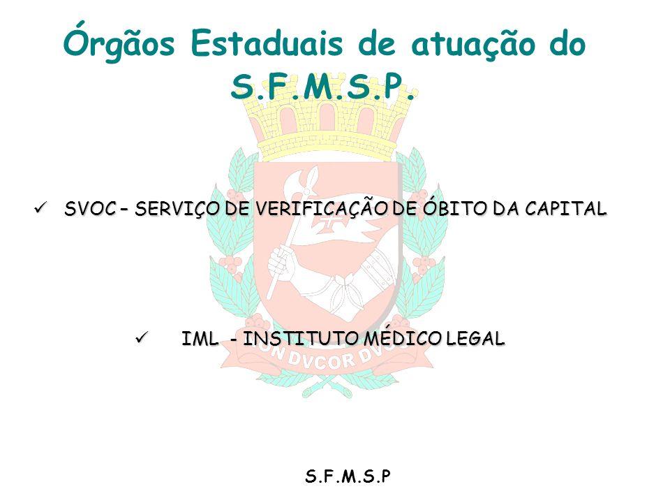 SVOC – SERVIÇO DE VERIFICAÇÃO DE ÓBITO DA CAPITAL SVOC – SERVIÇO DE VERIFICAÇÃO DE ÓBITO DA CAPITAL IML - INSTITUTO MÉDICO LEGAL IML - INSTITUTO MÉDIC
