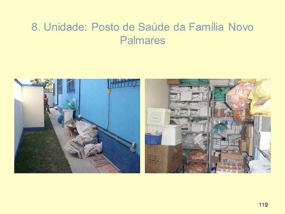 8. Unidade: Posto de Saúde da Família Novo Palmares 119