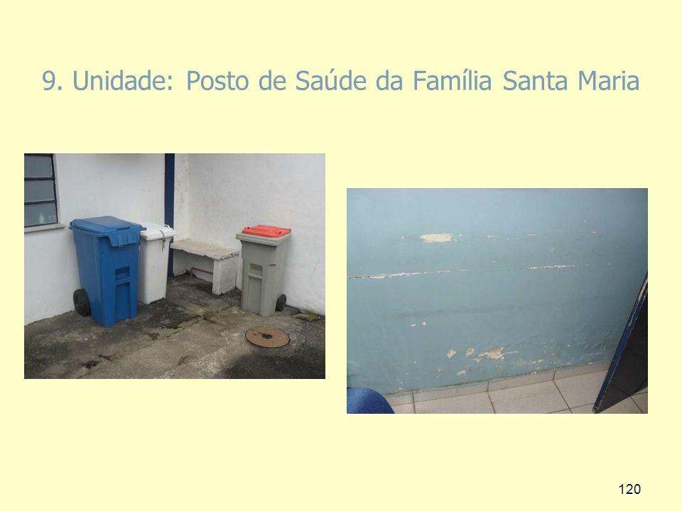 9. Unidade: Posto de Saúde da Família Santa Maria 120