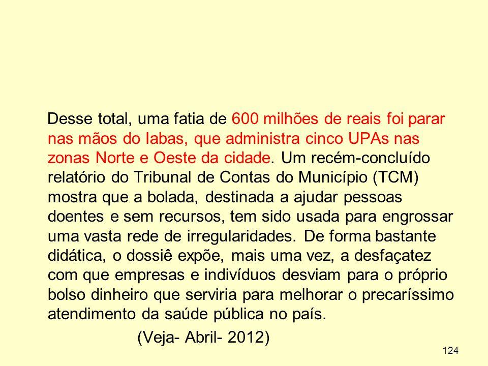 Desse total, uma fatia de 600 milhões de reais foi parar nas mãos do Iabas, que administra cinco UPAs nas zonas Norte e Oeste da cidade. Um recém-conc