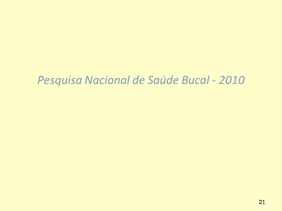 21 Pesquisa Nacional de Saúde Bucal - 2010 21