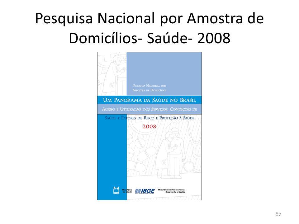 Pesquisa Nacional por Amostra de Domicílios- Saúde- 2008 65