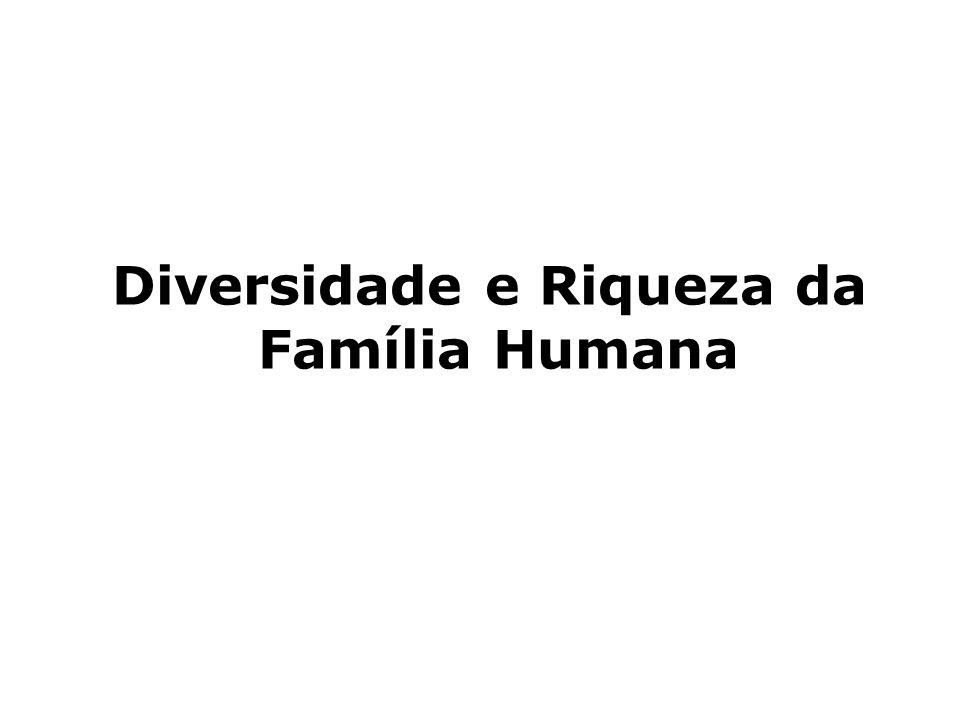 Diversidade e Riqueza da Família Humana