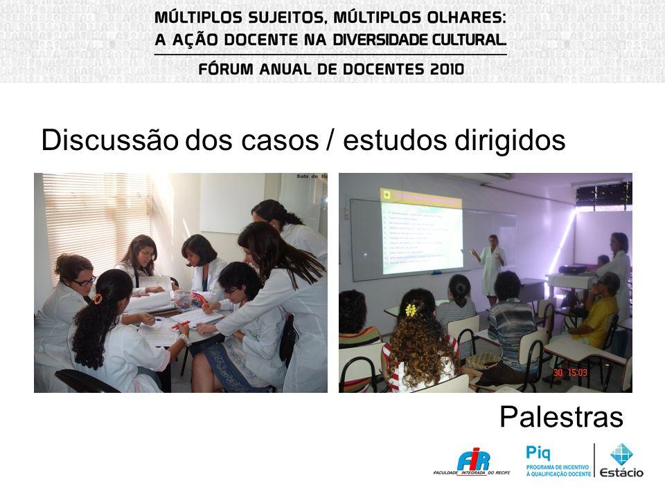 Discussão dos casos / estudos dirigidos Palestras