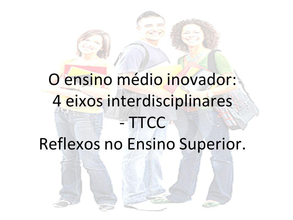 O ensino médio inovador: 4 eixos interdisciplinares - TTCC Reflexos no Ensino Superior.