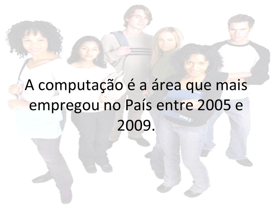 A computação é a área que mais empregou no País entre 2005 e 2009.