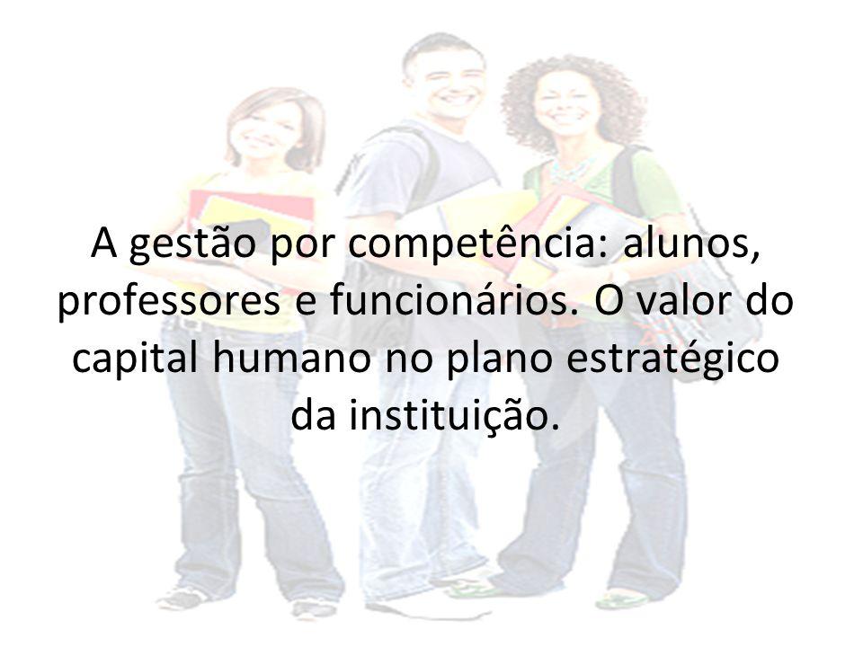 A gestão por competência: alunos, professores e funcionários.