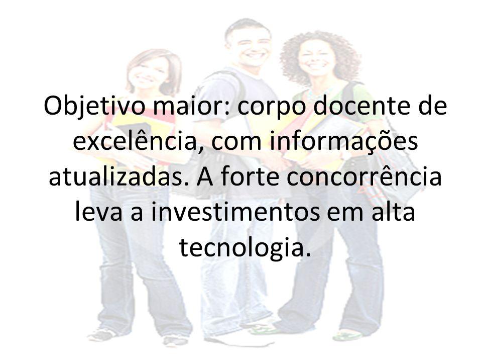 Objetivo maior: corpo docente de excelência, com informações atualizadas.