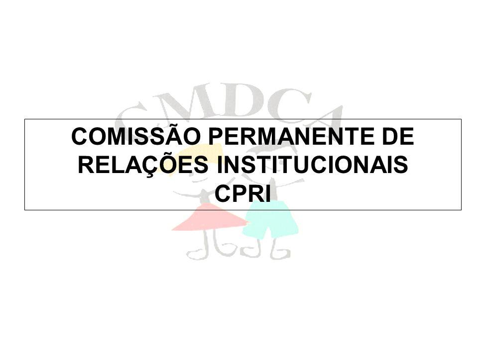 COMISSÃO PERMANENTE DE RELAÇÕES INSTITUCIONAIS CPRI