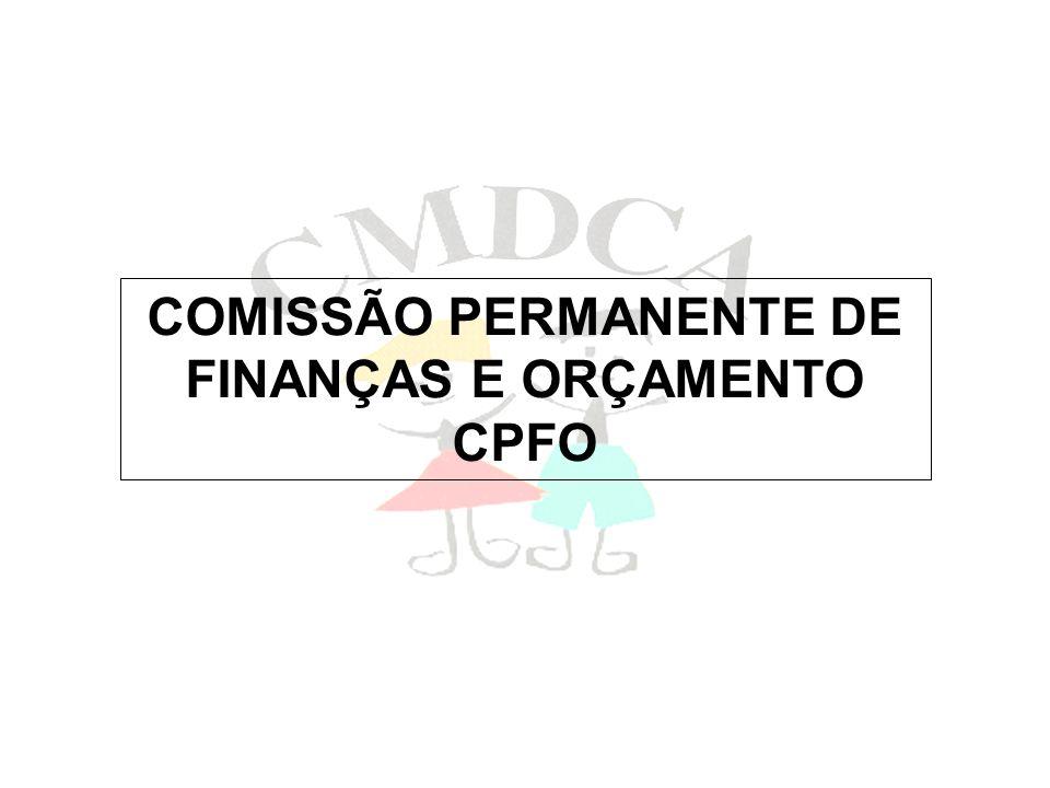 COMISSÃO PERMANENTE DE FINANÇAS E ORÇAMENTO CPFO