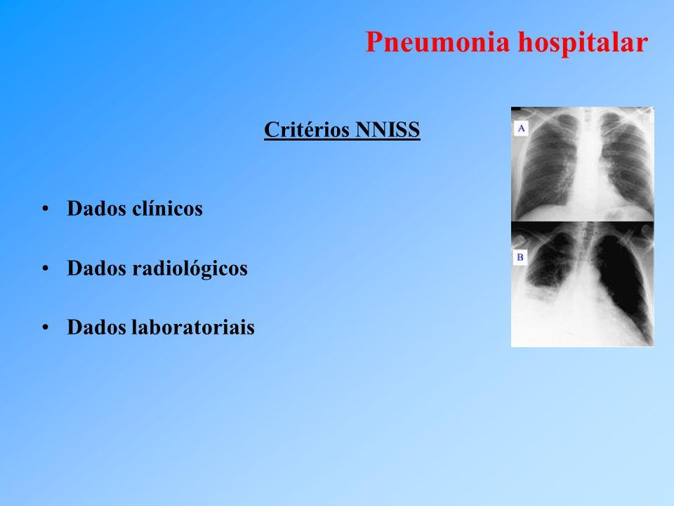 Pneumonia hospitalar Critérios NNISS Dados clínicos Dados radiológicos Dados laboratoriais