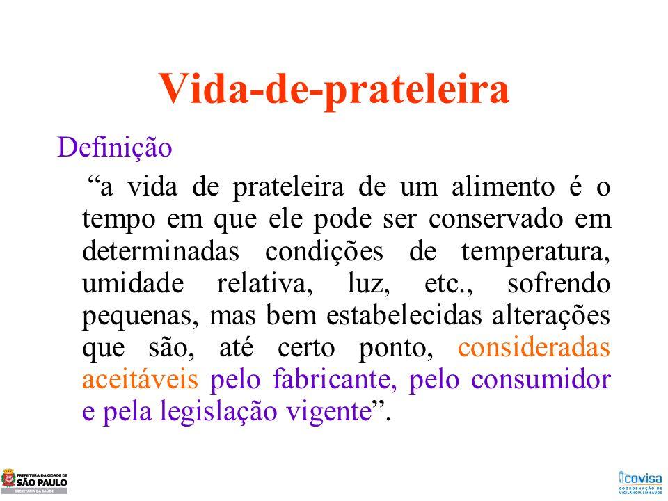 Vida-de-prateleira Definição a vida de prateleira de um alimento é o tempo em que ele pode ser conservado em determinadas condições de temperatura, um