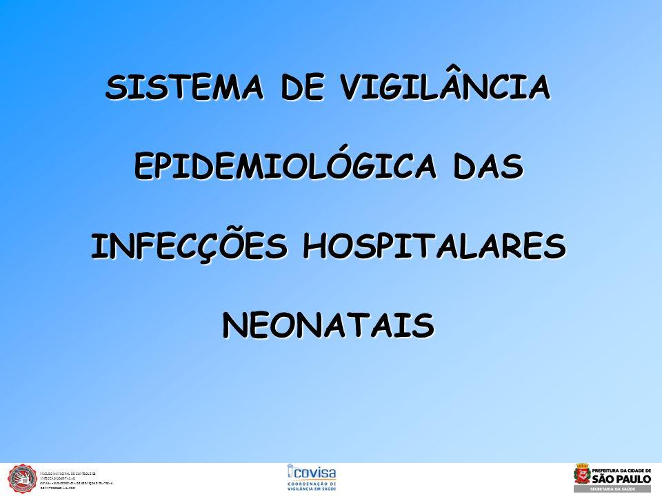 SISTEMA DE VIGILÂNCIA EPIDEMIOLÓGICA DAS INFECÇÕES HOSPITALARES NEONATAIS NÚCLEO MUNICIPAL DE CONTROLE DE INFECÇÃO HOSPITALAR INFECÇÃO HOSPITALAR COVI