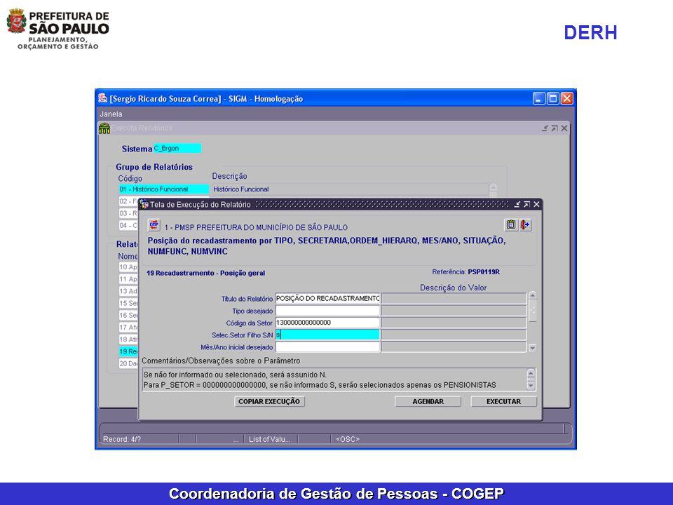 Coordenadoria de Gestão de Pessoas - COGEP DERH