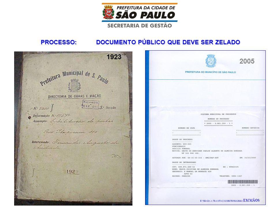 PROCESSO: DOCUMENTO PÚBLICO QUE DEVE SER ZELADO 1923 2005 É VEDADA A TRAMITAÇÃO DESTE PROCESSO EM MÃOS.