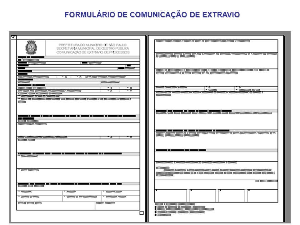 FORMULÁRIO DE COMUNICAÇÃO DE EXTRAVIO