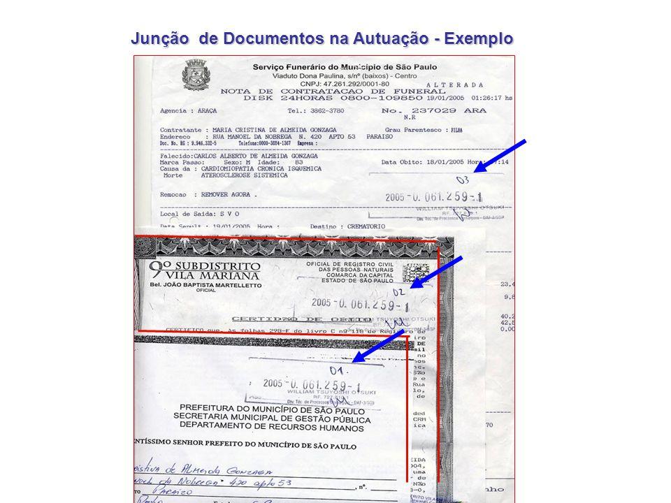 Identificar o Início e Fim da Autuação No verso da folha nº 1 é colocado o carimbo Início de Autuação DEPARTAMENTO ADMINISTRATIVO FINANCEIRO SETOR DE AUTUAÇÃO - DAF-37 Segue(m) juntado(s) nesta data documento(s) e papel de informação rubricado(s) sob nº(s) ___02 a 10______________________________ Em 4/4/2014 Ass.__________________________________ DAF-310 FIM DA AUTUAÇÃO 1ª TRAMITAÇÃO Segue(m) juntado(s) nesta data documento(s) e folha de informação rubricado(s) sob folha(s) nº ____________ Em __/__/__ Ass._______________________ No verso da última folha autuada vai o carimbo Fim da Autuação O presente processo foi autuado com 10 folhas 4-abr-14 CARIMBO / ASSINATURA Folha de Informação: (quando não houver espaço no verso da última)