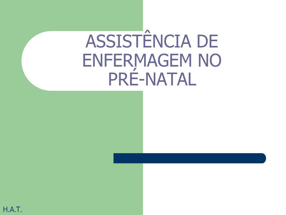 ASSISTÊNCIA DE ENFERMAGEM NO PRÉ-NATAL H.A.T.