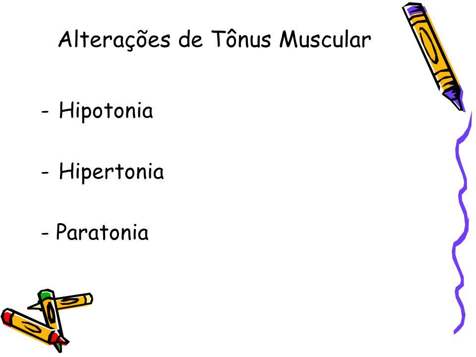Alterações de Tônus Muscular -Hipotonia -Hipertonia - Paratonia