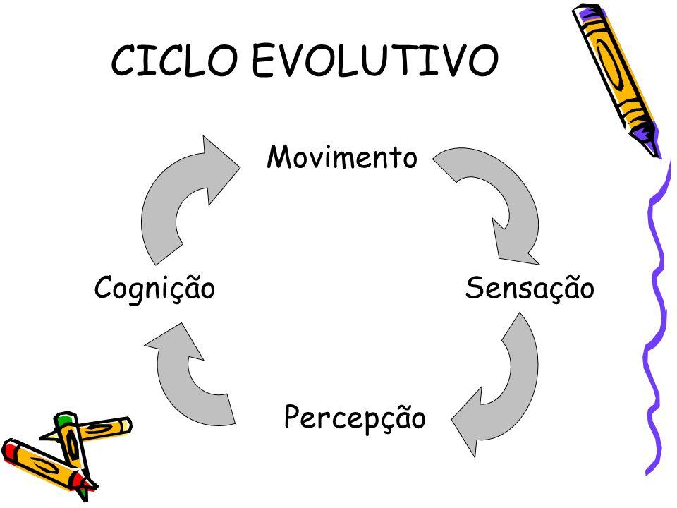 CICLO EVOLUTIVO Movimento CogniçãoSensação Percepção