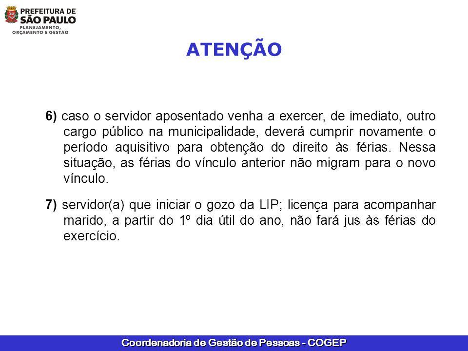 Coordenadoria de Gestão de Pessoas - COGEP NO CASO DE DÚVIDAS COM RELAÇÃO A ACESSO AO SIGPEC, SOLICITAMOS ENTRAR EM CONTATO COM A EQUIPE DO SIGPEC AS URHs E SUGESPs PODERÃO ENVIAR DÚVIDAS PARA A PASTA PÚBLICA:semplacogepderh3@prefeitura.sp.gov.br
