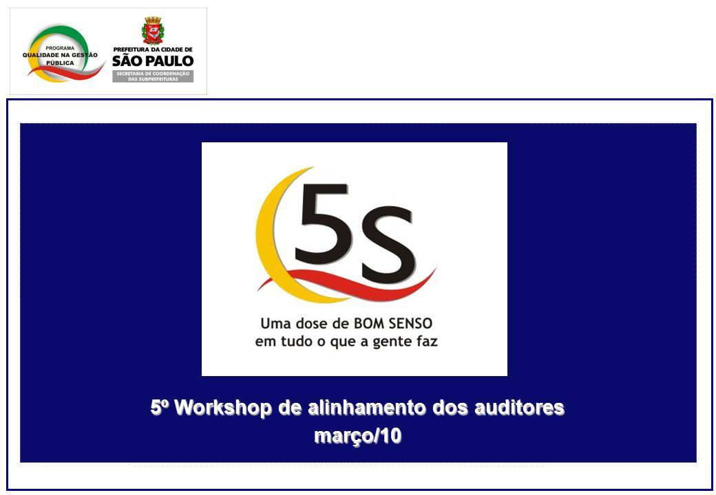 5º Workshop de alinhamento dos auditores março/10