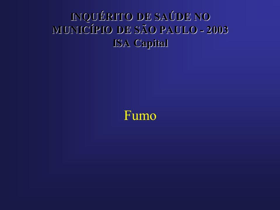 INQUÉRITO DE SAÚDE NO MUNICÍPIO DE SÃO PAULO - 2003 ISA Capital Fumo