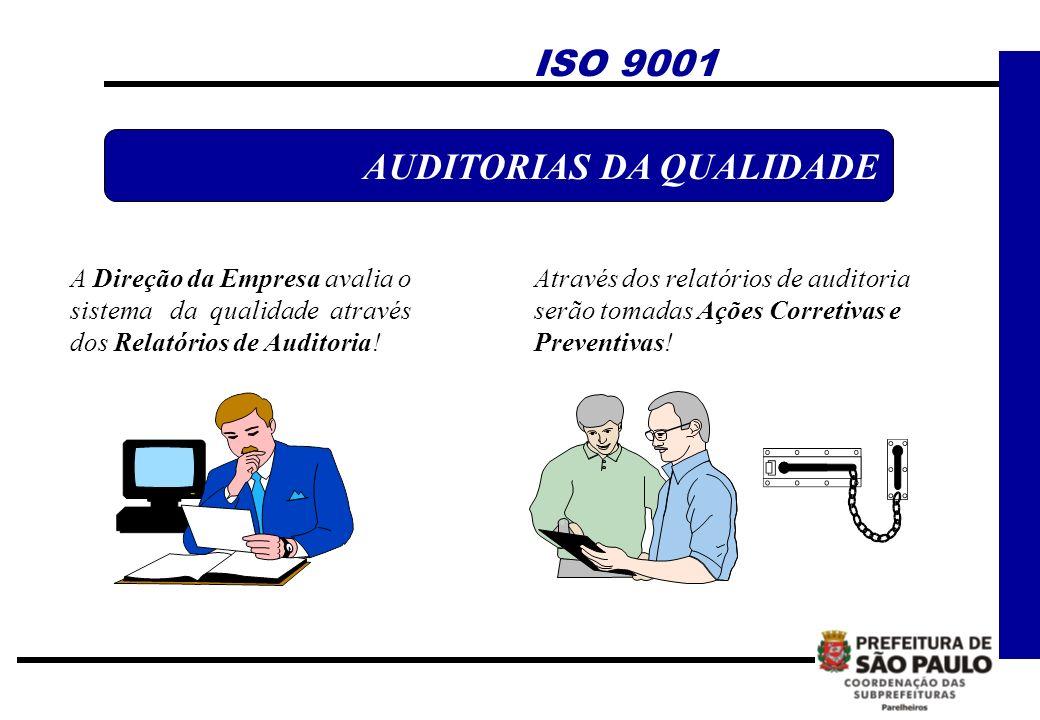 A Direção da Empresa avalia o sistema da qualidade através dos Relatórios de Auditoria! AUDITORIAS DA QUALIDADE Através dos relatórios de auditoria se