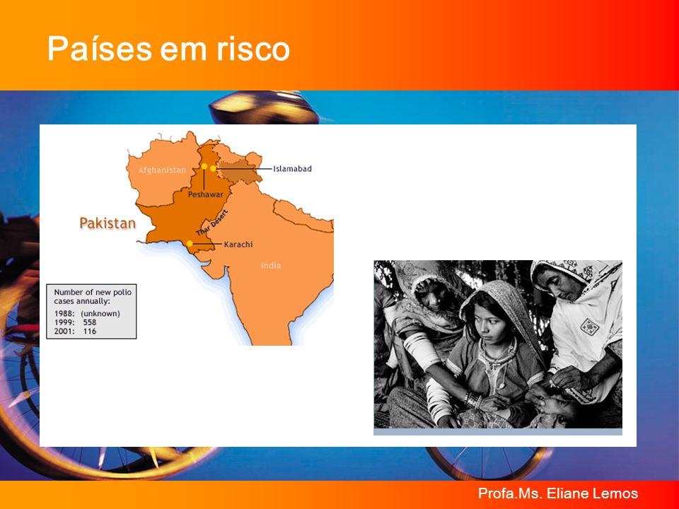 Profa.Ms. Eliane Lemos Países em risco