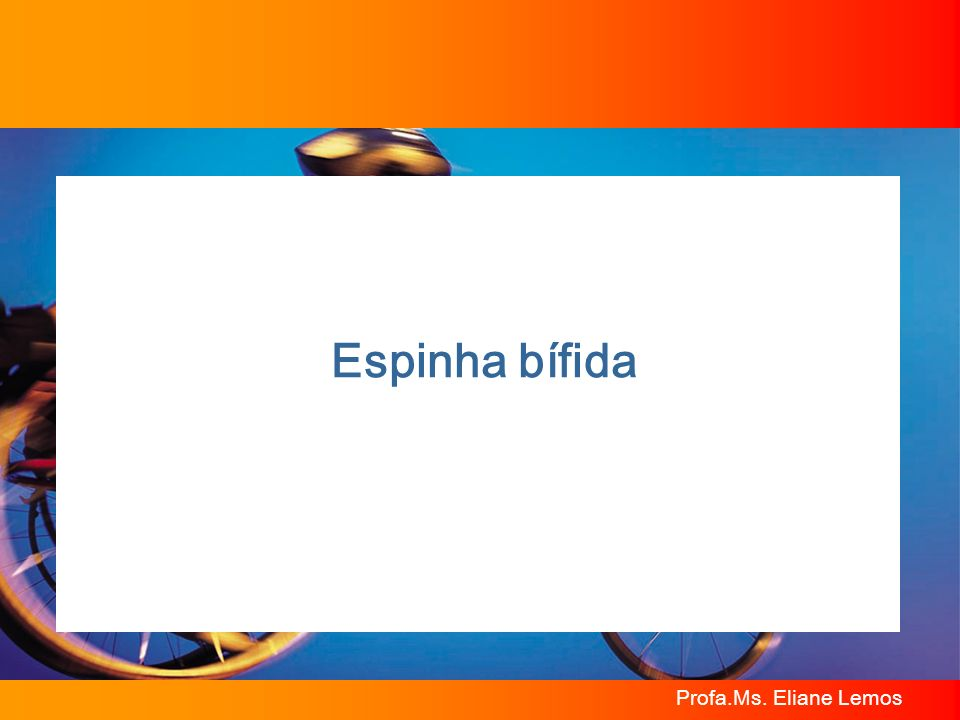 Profa.Ms. Eliane Lemos Espinha bífida