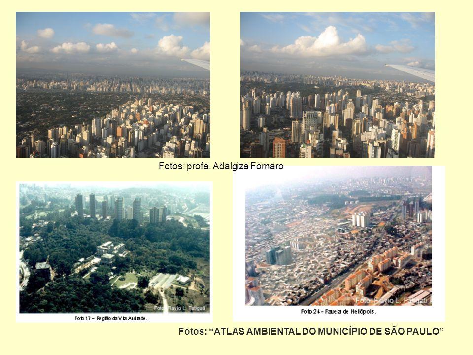 Fotos: ATLAS AMBIENTAL DO MUNICÍPIO DE SÃO PAULO Fotos: profa. Adalgiza Fornaro