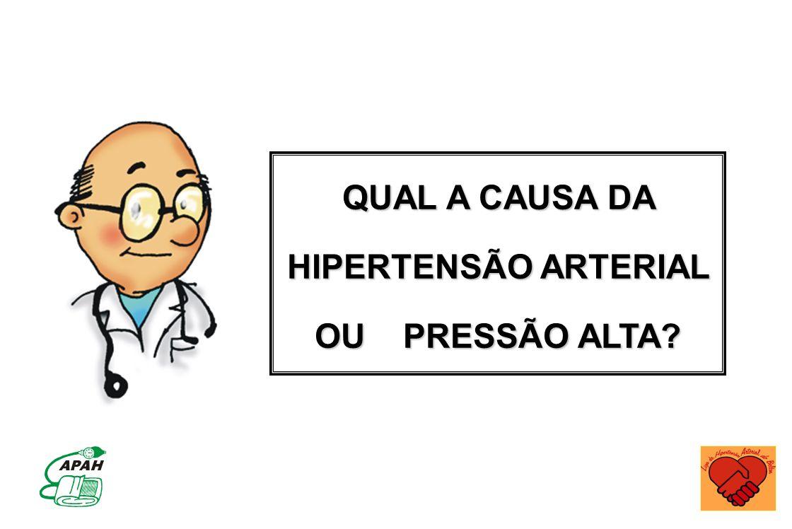 QUAL A CAUSA DA HIPERTENSÃO ARTERIAL OU PRESSÃO ALTA?