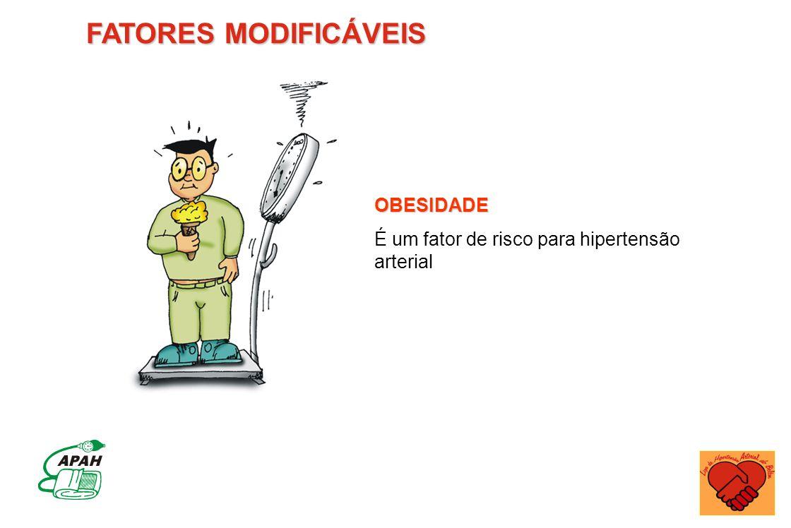 FATORES MODIFICÁVEIS OBESIDADE É um fator de risco para hipertensão arterial