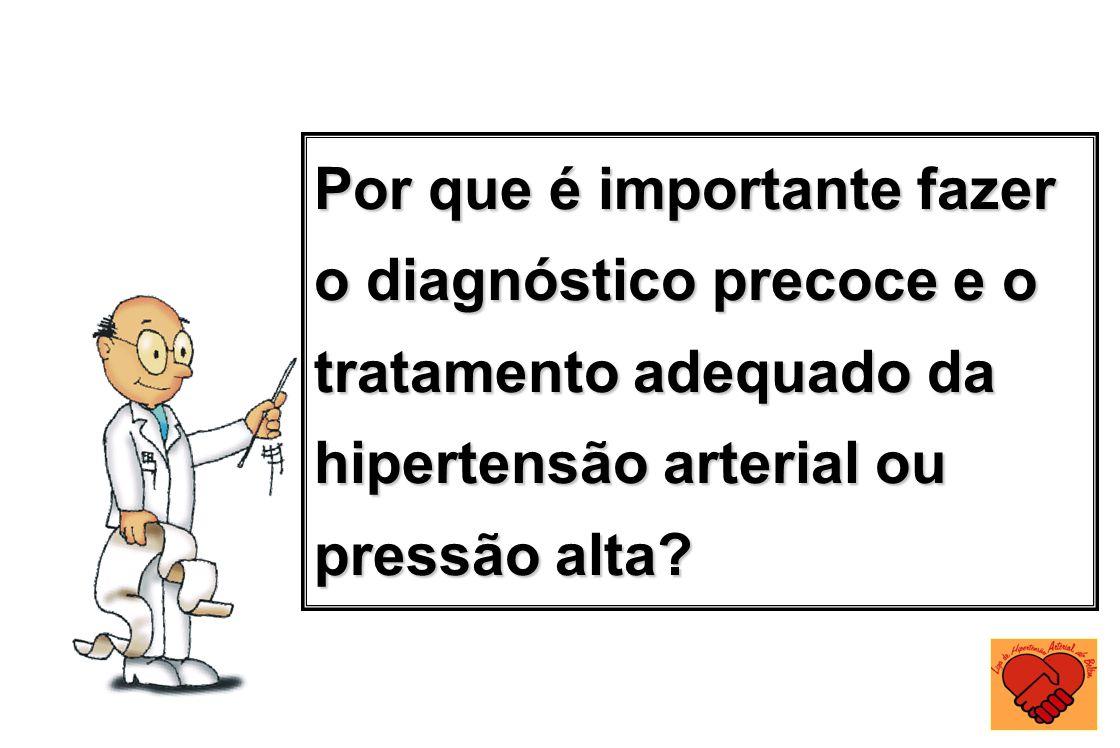 Por que é importante fazer o diagnóstico precoce e o tratamento adequado da hipertensão arterial ou pressão alta?
