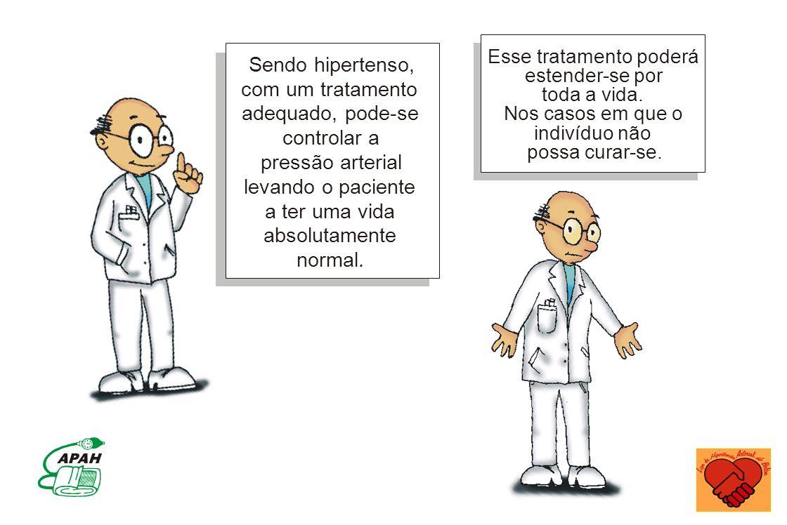 Sendo hipertenso, com um tratamento adequado, pode-se controlar a pressão arterial levando o paciente a ter uma vida absolutamente normal. Esse tratam