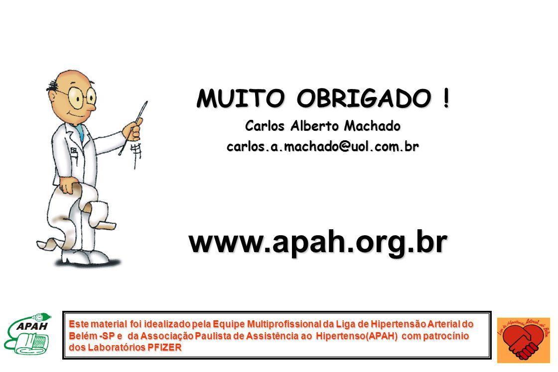 Este material foi idealizado pela Equipe Multiprofissional da Liga de Hipertensão Arterial do Belém -SP e da Associação Paulista de Assistência ao Hip