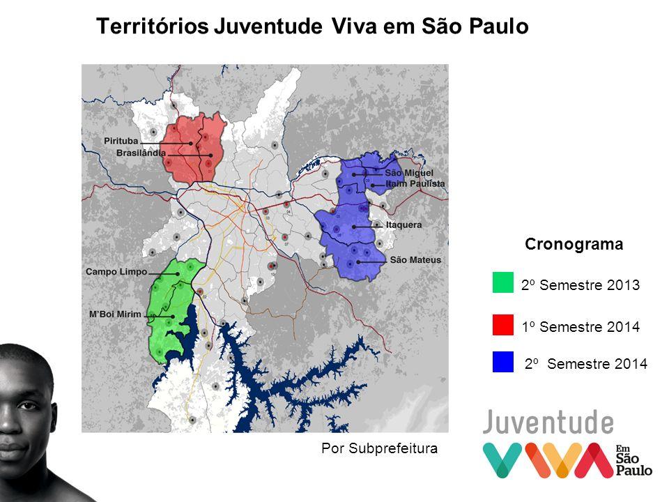Territórios Juventude Viva em São Paulo 2º Semestre 2013 1º Semestre 2014 2º Semestre 2014 Cronograma Por Subprefeitura