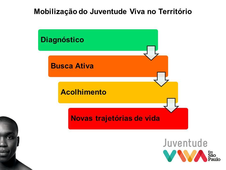Mobilização do Juventude Viva no Território DiagnósticoBusca AtivaAcolhimentoNovas trajetórias de vida