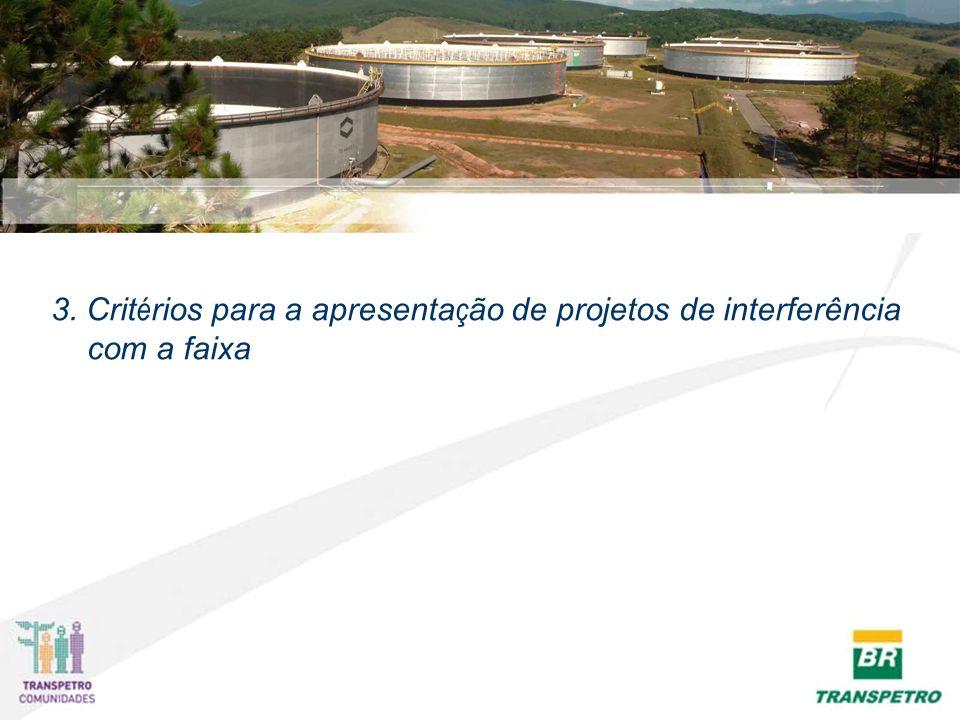 3. Crit é rios para a apresenta ç ão de projetos de interferência com a faixa