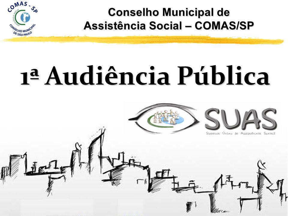 1ª Audiência Pública Conselho Municipal de Assistência Social – COMAS/SP