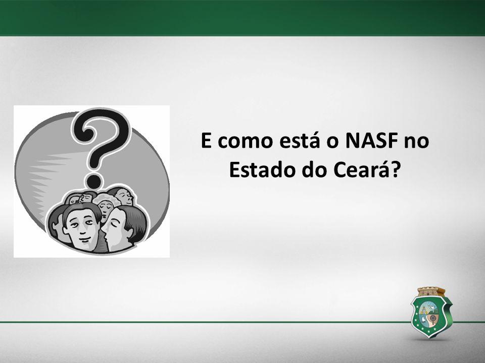 E como está o NASF no Estado do Ceará?