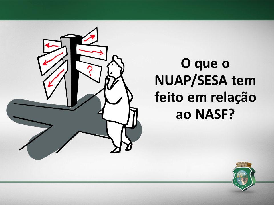 O que o NUAP/SESA tem feito em relação ao NASF?