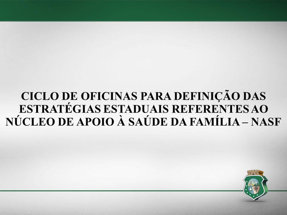 CICLO DE OFICINAS PARA DEFINIÇÃO DAS ESTRATÉGIAS ESTADUAIS REFERENTES AO NÚCLEO DE APOIO À SAÚDE DA FAMÍLIA – NASF